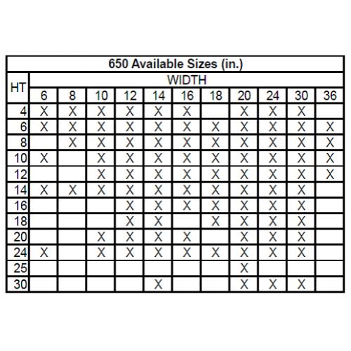 650 Steel Return Air Grille, 1/3in Fin Spacing