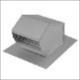 ALUMINUM ROOF CAP W/ DAMPER and SCREEN