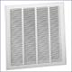 659T 20x20 Steel Lanced Return Air Filter Grille, 1/3in Fin Spacing