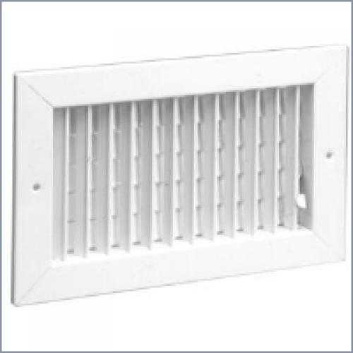 821 Steel Register Vertical Fins, MS damper
