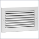 94A Steel Return Air Grille, 35-degree Fixed Blade (No Damper)